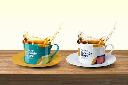 Tea Cup Splash Mockup