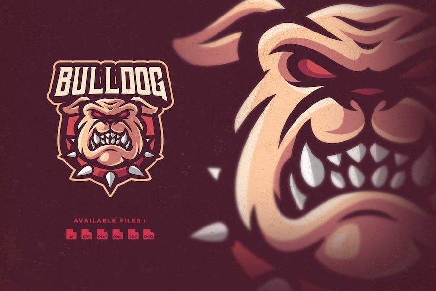 Bulldog Character Esport Logo