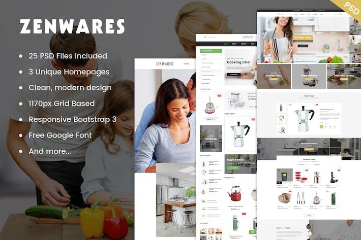 Thumbnail for Zenwares - Multi-Purpose eCommerce PSD Template