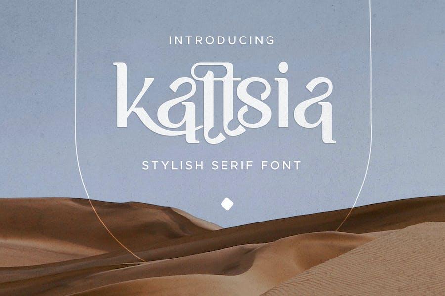 Fuente con serifa elegante Kattsia