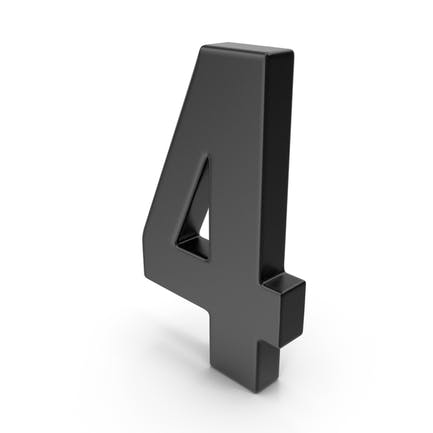 4 Number Black