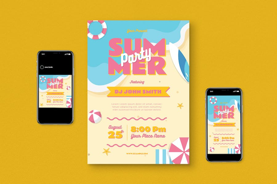 Summer Party Flyer Pack