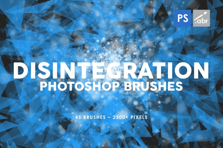 Cover Image For 45 Disintegration Photoshop Brushes