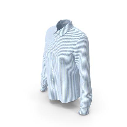 Женская полосатая рубашка