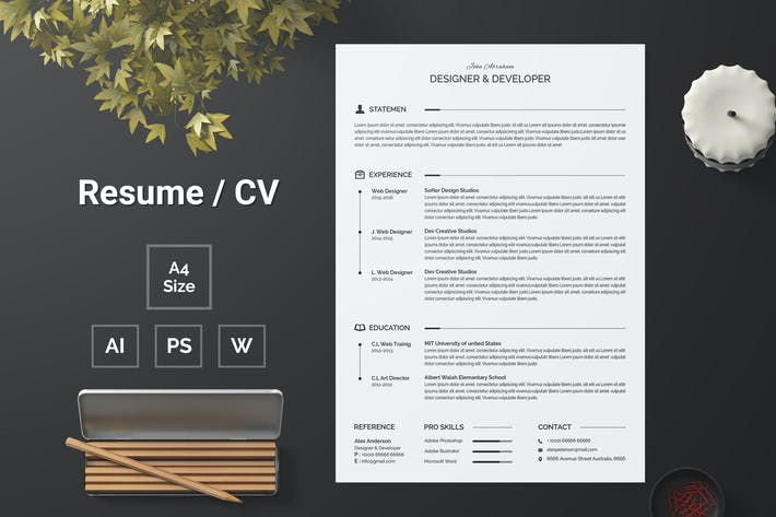 Thumbnail for Resume Template 123