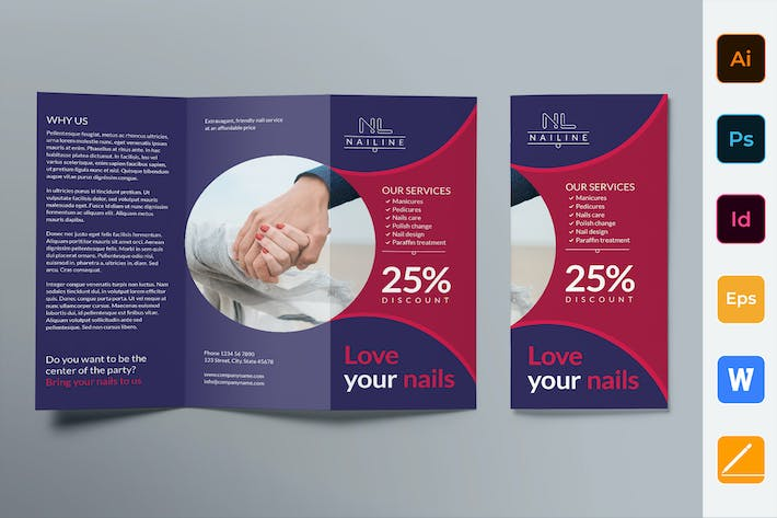 Thumbnail for Nail Studio Brochure Trifold