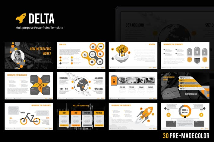 Cover Image For Delta PowerPoint Template