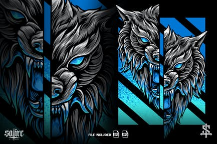 Wolf-Kopf