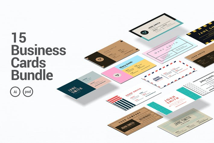 Thumbnail for 15 Business Cards Bundle