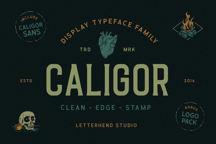 Thumbnail for CALIGOR - Display Typeface