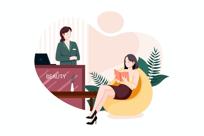 Thumbnail for Young female administrator standing at the counter