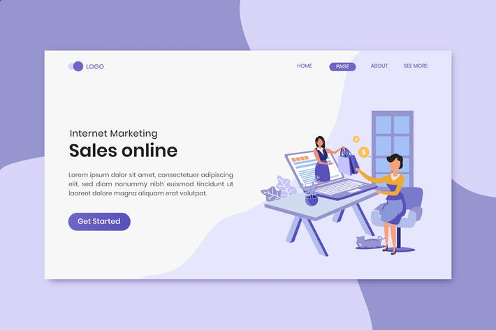 Thumbnail for Sales Online Marketing Landing Page