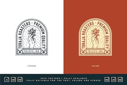 Logo Café - Torréfacteurs Toraja - Qualité Premium