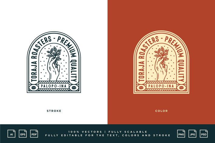 Kaffee-Logo - Toraja Roasters - Premium Qualität