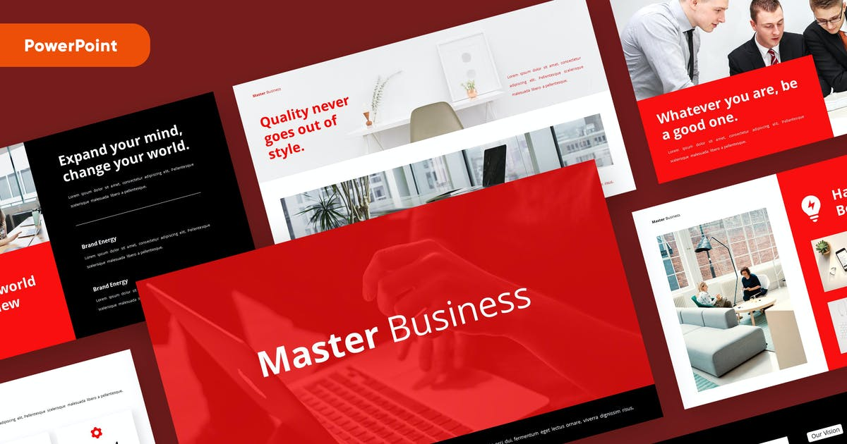 Download MASTER - Business Pitch Deck Powerpoint by rgbryand