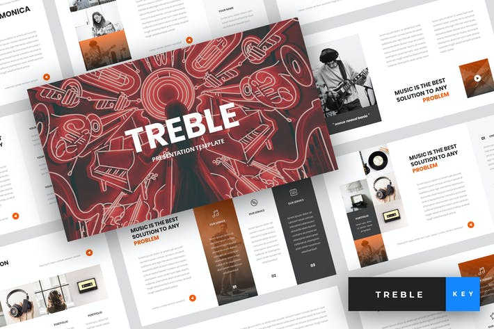 Cover Image For Treble - Music Keynote Template