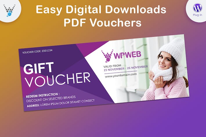 Cover Image For Easy Digital Downloads - PDF Vouchers