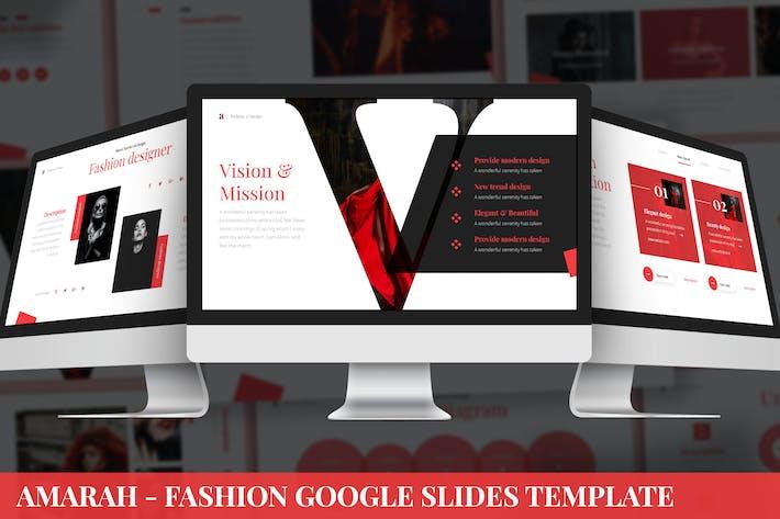 Amarah - Fashion Google Slides Template
