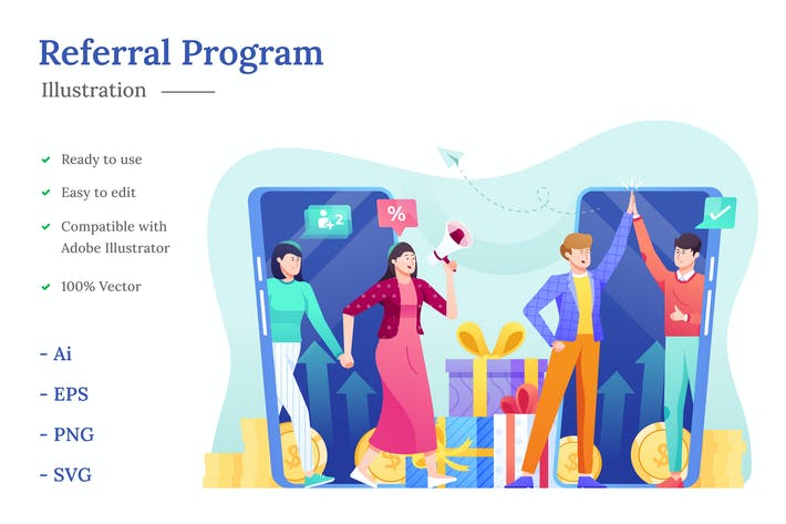 Referral Program Illustration