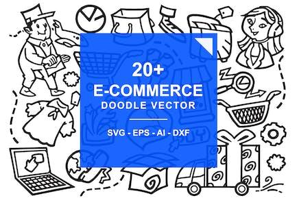E-Commerce Online Store Doodles