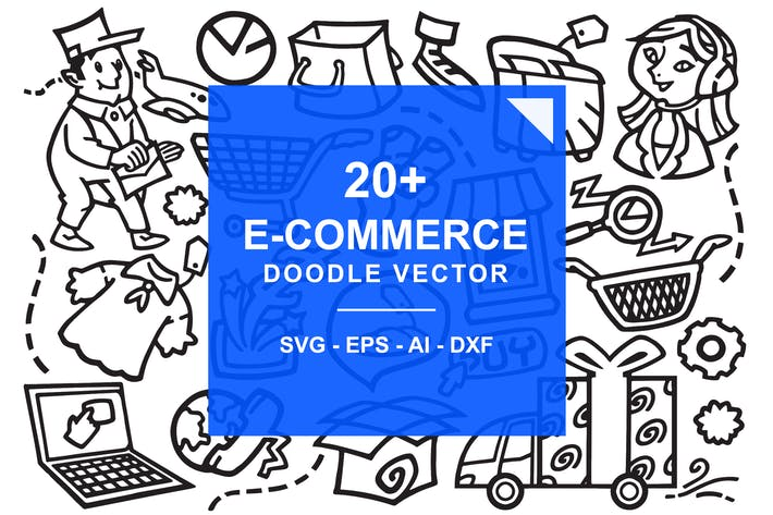 Thumbnail for E-Commerce Online Store Doodles
