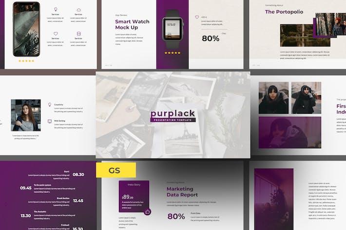 Purplack Creative Purple Business Google Slide