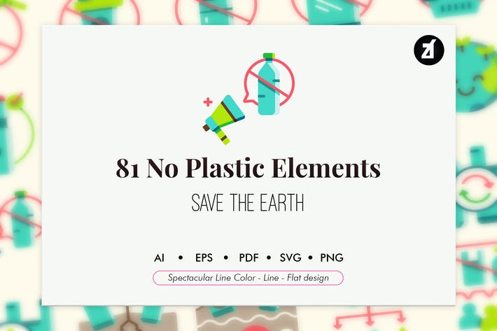 Thumbnail for 81 No plastic campaign elements