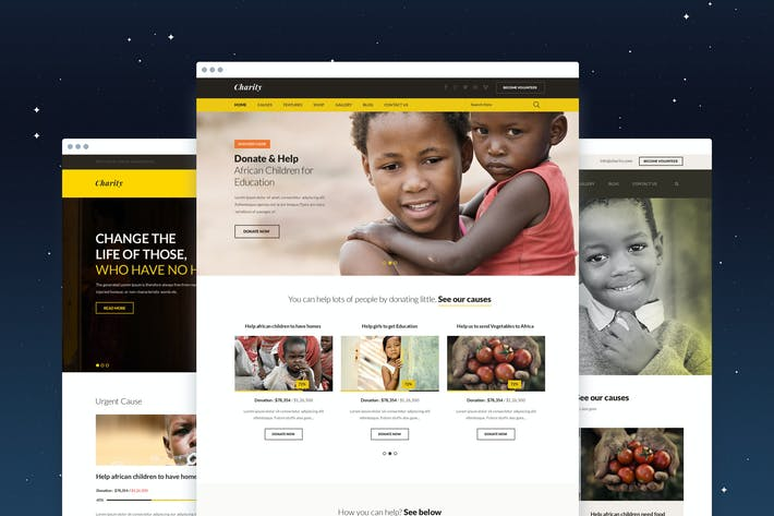 Thumbnail for Charity Fundraising PSD Template