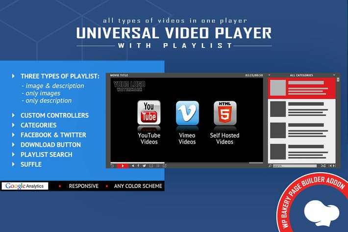 Thumbnail for Universal Video Player for WPBakery Page Builder