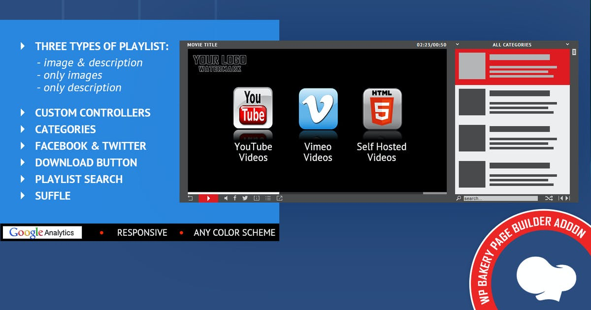 Download Universal Video Player for WPBakery Page Builder by LambertGroup