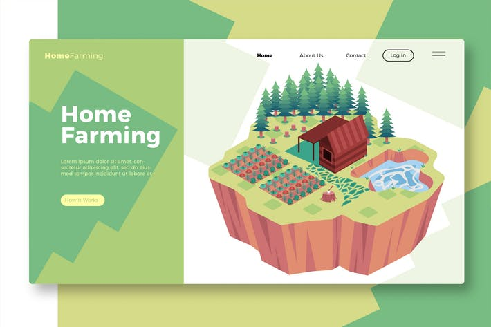 Thumbnail for Home Farming - Banner & Landing Page