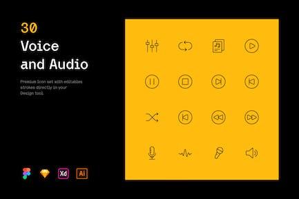 Stimme und Audio - Iconuioo