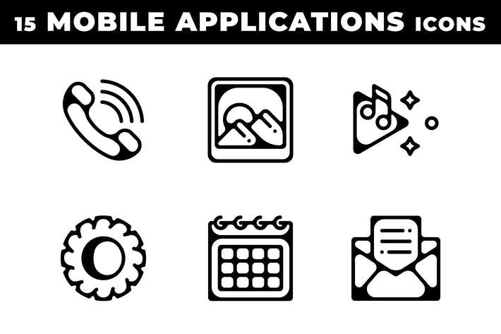 Thumbnail for Icones des applications mobiles