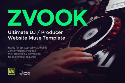 Zvook - DJ/Шаблон сайта продюсера Муза