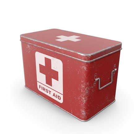 Caja de Medicamentos Rojo Rascado