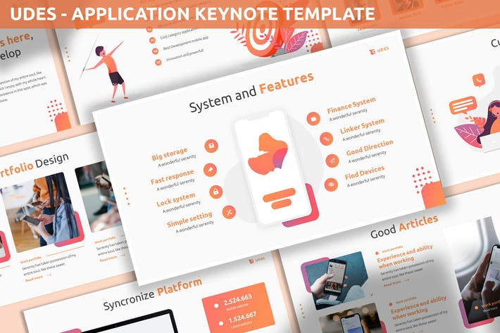 Cover Image For Udes - Application Keynote Template