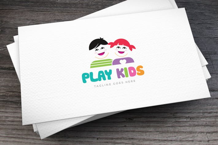 Thumbnail for Play Kids Logo Template