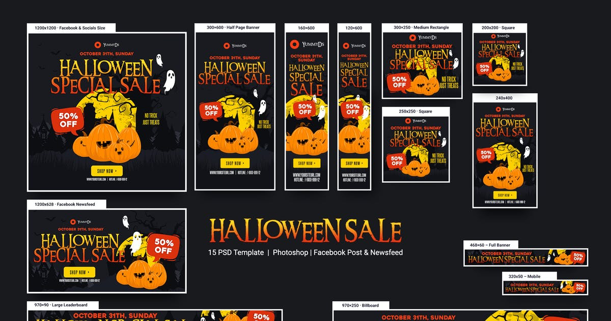 Download Halloween Sale Banners Ad by YummyDs