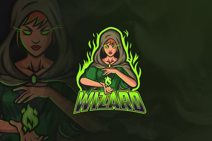 Thumbnail for Wizard - Mascot & Esport Logo