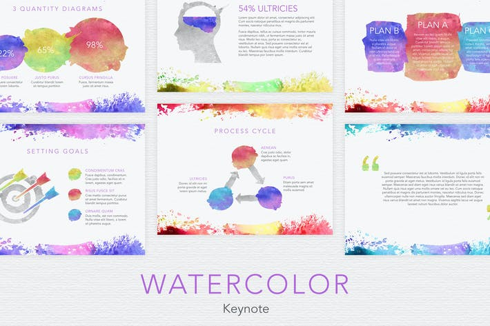 Download presentation templates envato elements thumbnail for watercolor keynote template toneelgroepblik Choice Image