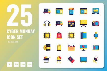 Cyber Monday Flat Icons