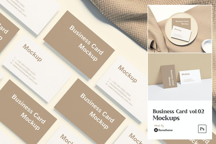 Thumbnail for Business Card vol.02 - Mockups VR