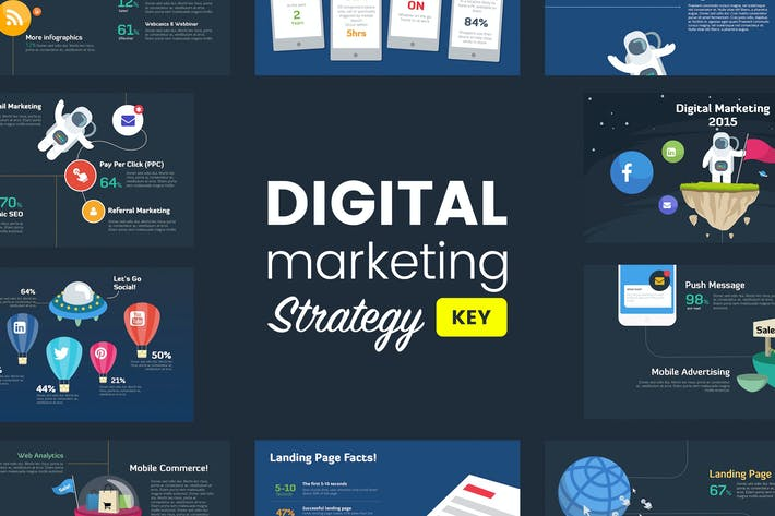 Thumbnail for Digital Marketing Strategy - Keynote Template