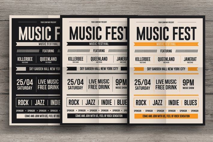 Thumbnail for Rock Music Fest Flyer