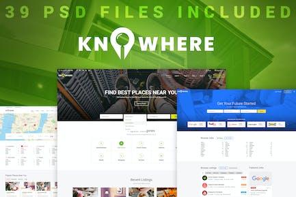 Knowhere - PSD-Vorlage für Mehrzweck-Verzeichnis