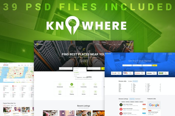 Thumbnail for Knowhere - Multipurpose Directory PSD Template