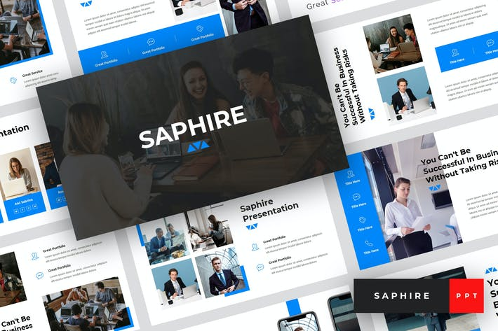 Thumbnail for Saphire - Pitch Deck PowerPoint Template