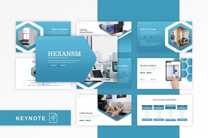 Thumbnail for Hexsansm - Multipurpose Keynote Template