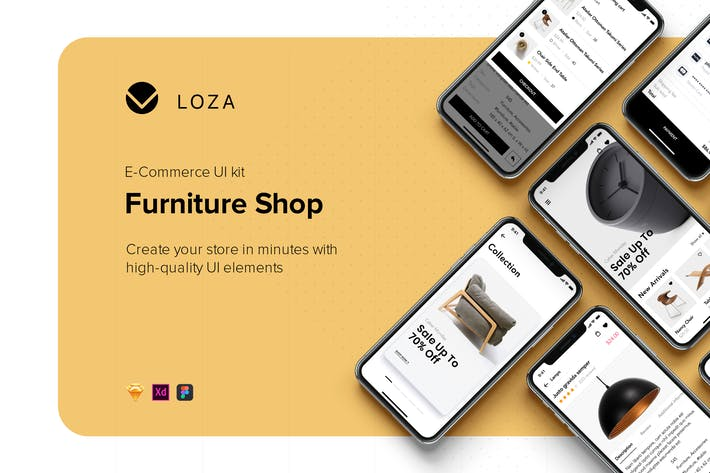 Thumbnail for Furniture Shop Mobile App UI Concept