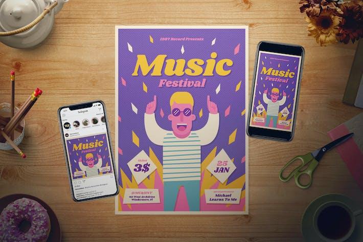 Thumbnail for Music Festival Flyer Set